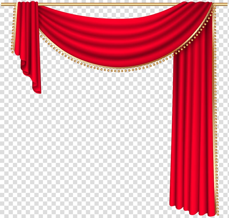Curtain rod Window Theater drapes and stage curtains , Red Curtain.