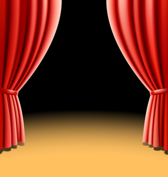 10 jenis stage curtain vector.