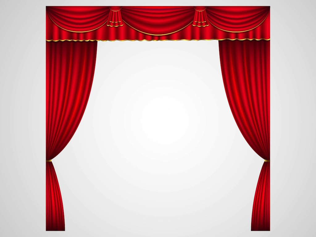 Theater Curtains Vector Art & Graphics.