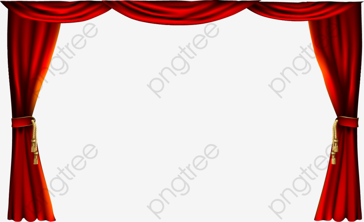 Exquisite Red Curtain Curtain, Curtain Vector, Fine, Red Curtain PNG.