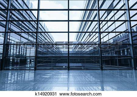 Stock Photography of window and glass curtain wall k14920931.