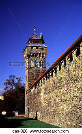 Pictures of Curtain Wall Cardiff Castle Wales UK cas.