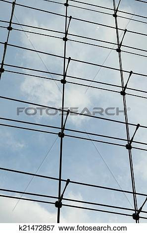 Picture of Glass curtain wall in a modern building k21472857.
