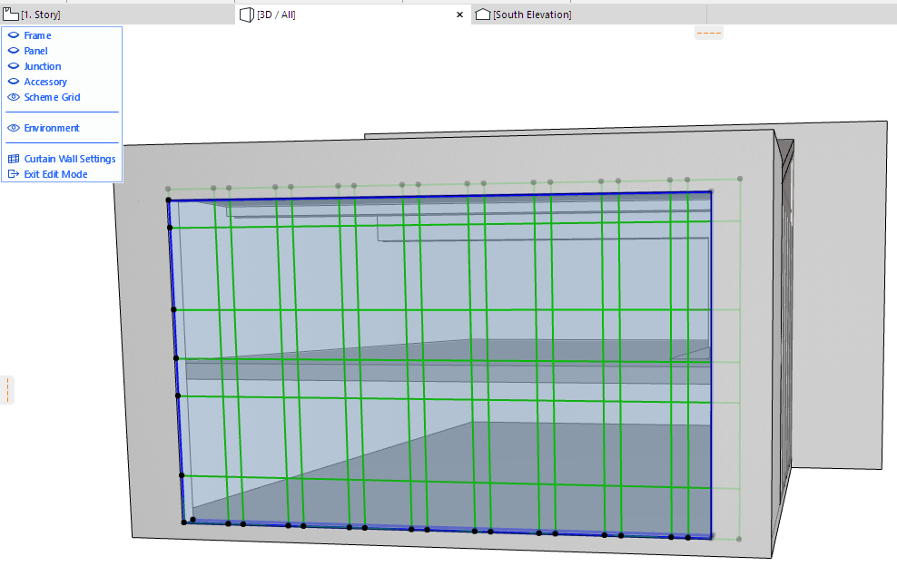 Edit Curtain Wall Boundary.