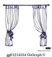 Curtains Clip Art.