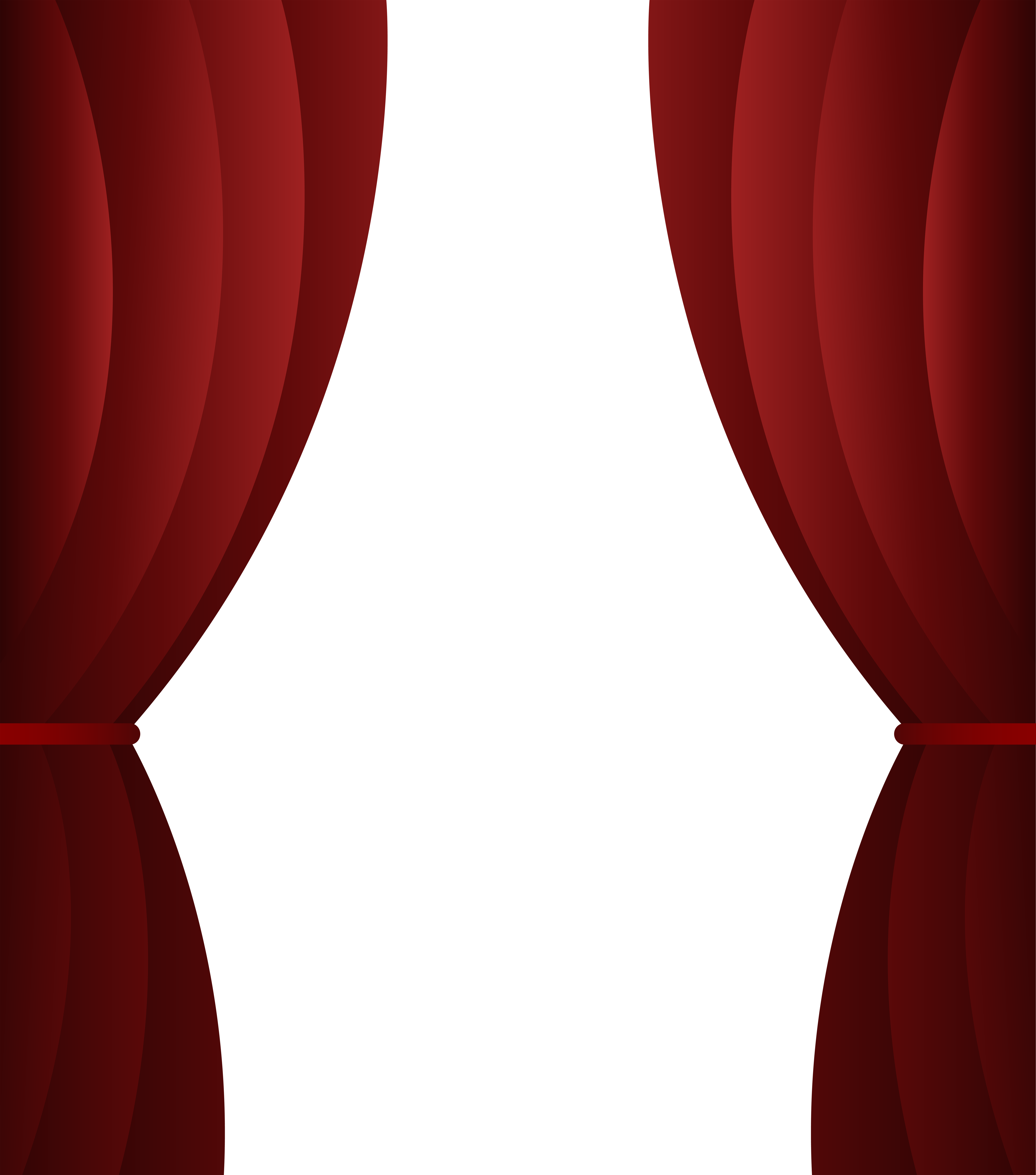 Red Curtain Transparent PNG Clip Art Image.