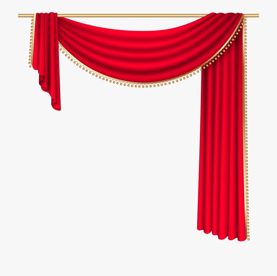 Curtains Clipart.
