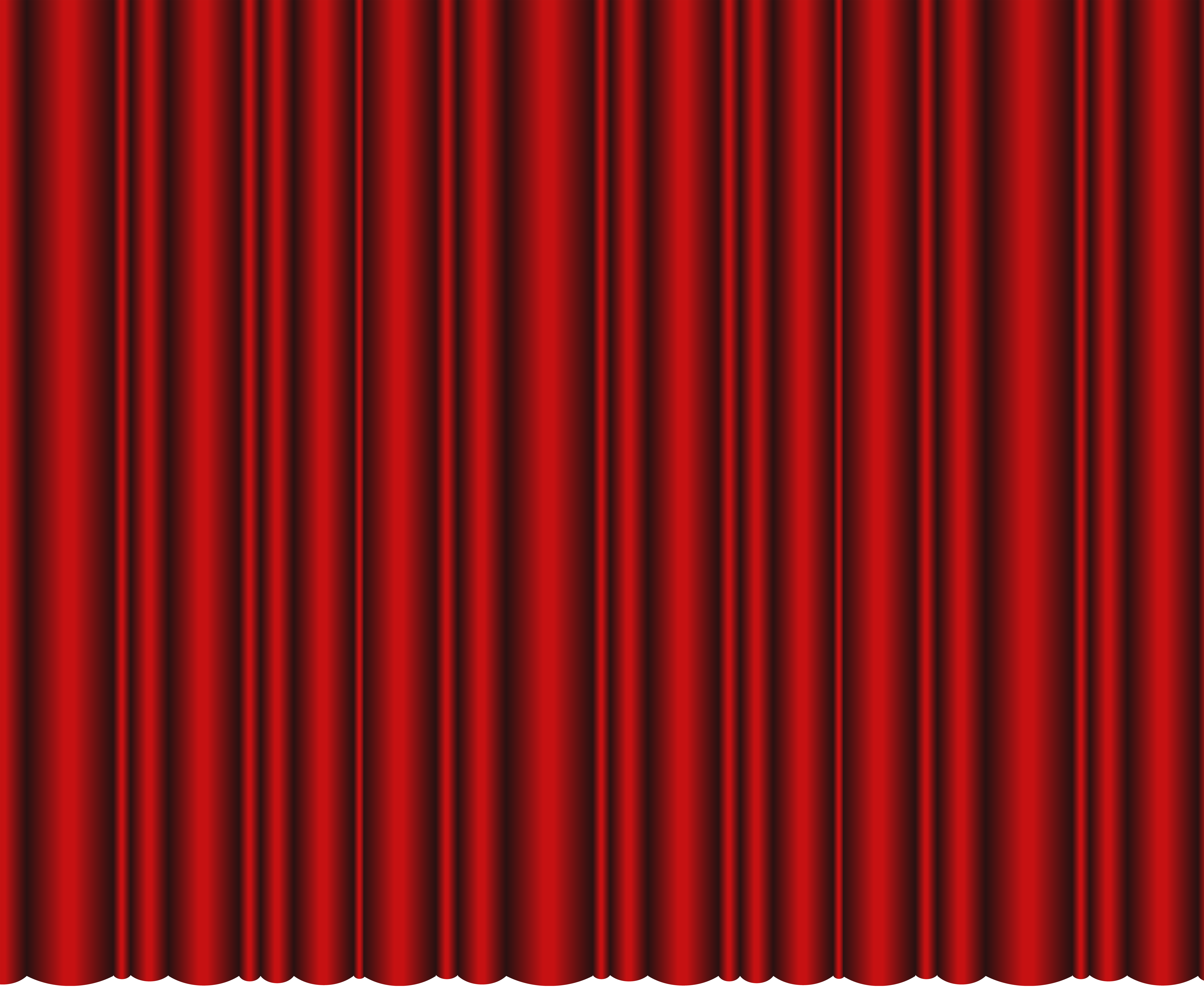 Closed Theater Curtains Red Transparent PNG Clip Art Image.