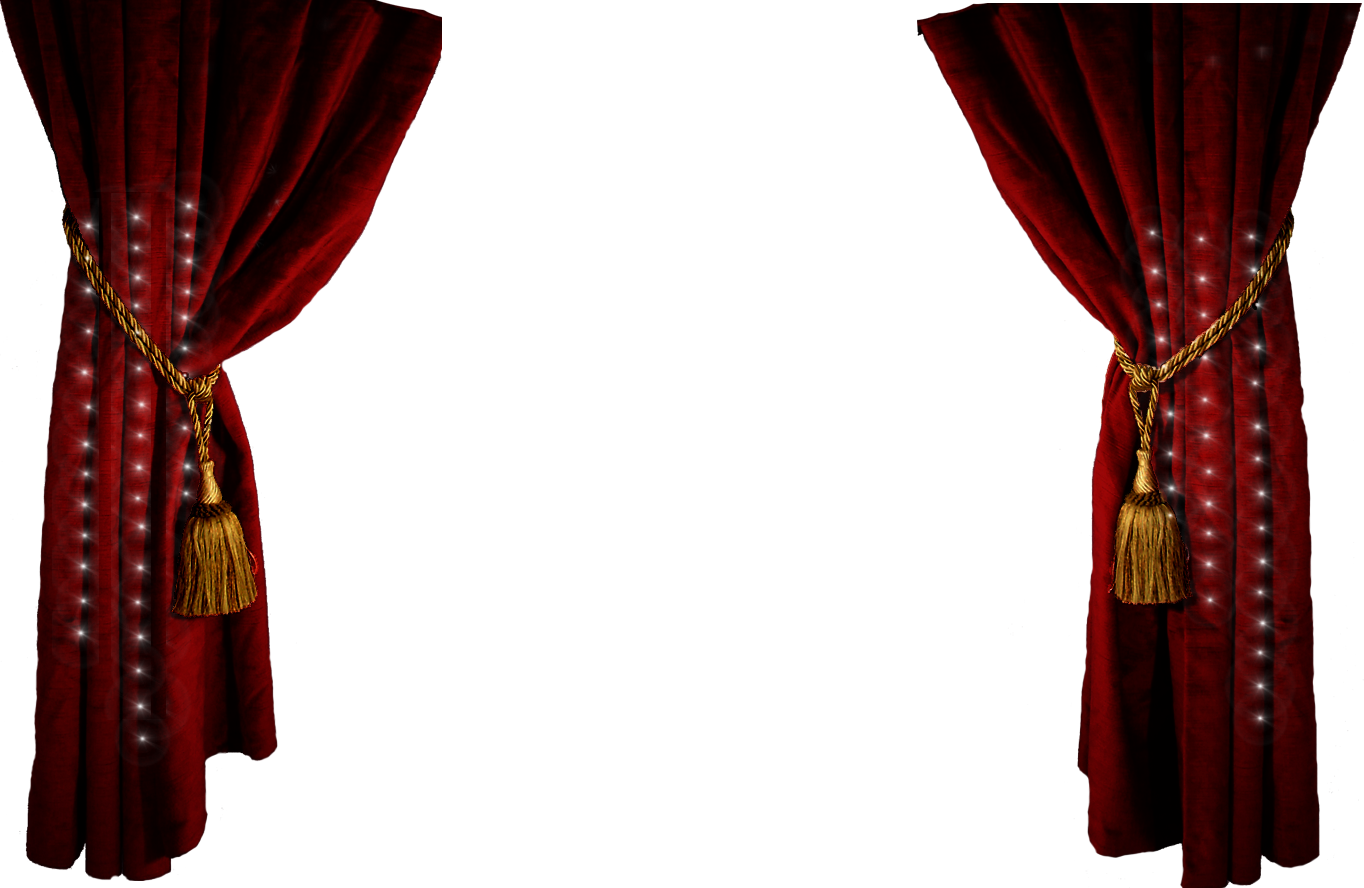 Theater Stage Curtains Clip Art.