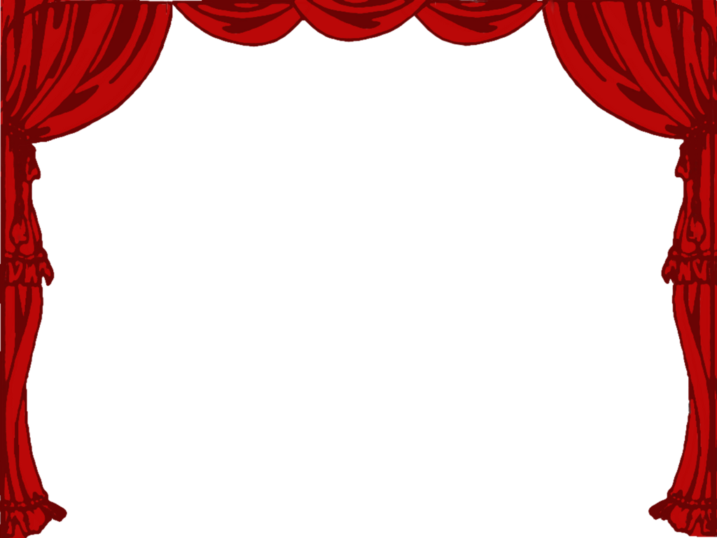 red theater curtain clipart #5