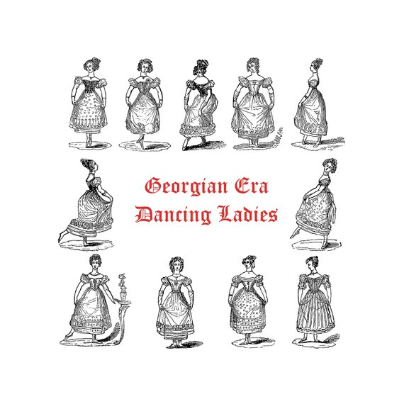 Georgian Dancing Women Bundle.