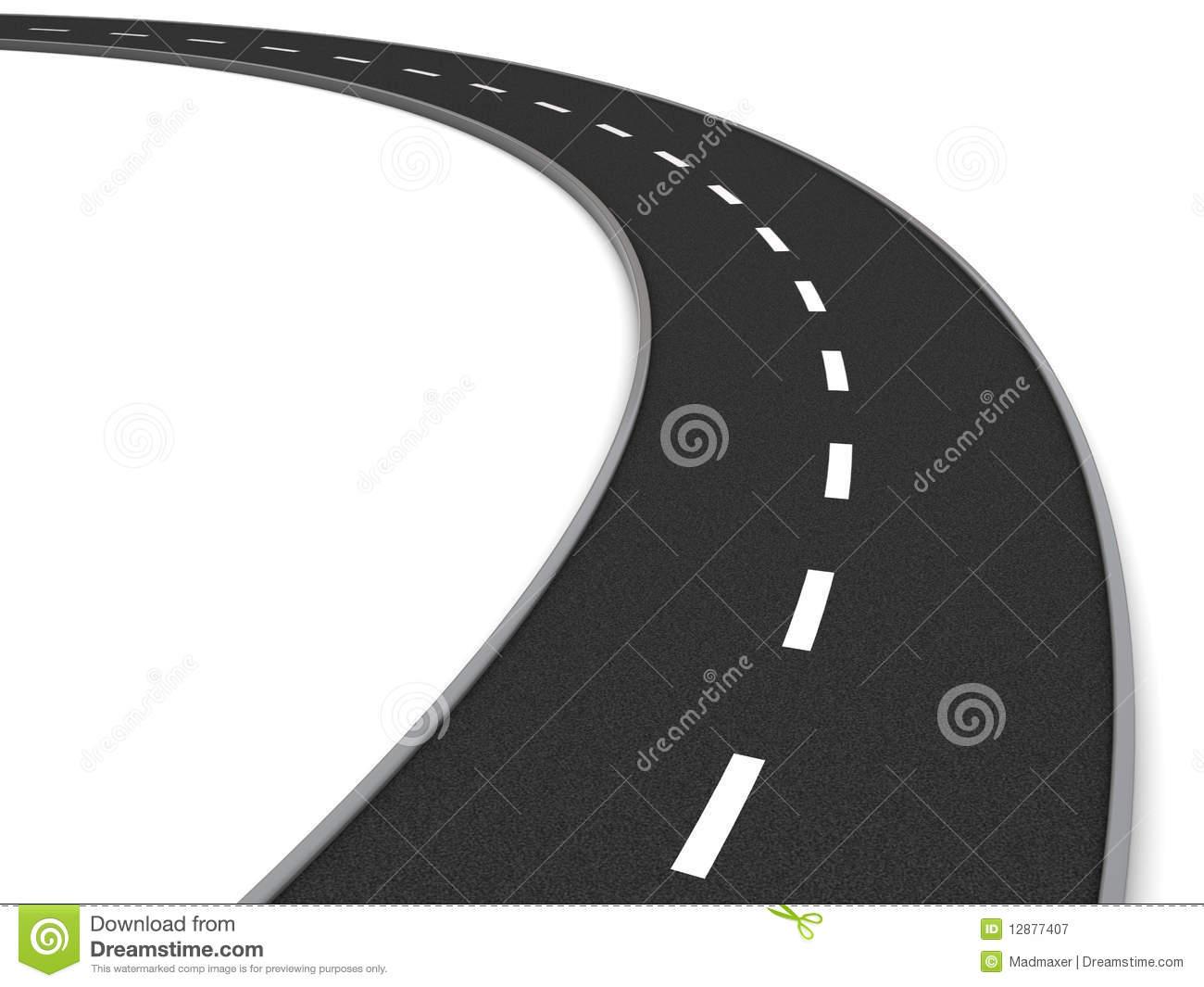 Curve road clipart.