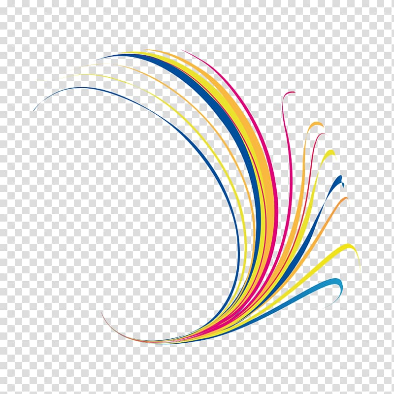 Multicolored , Line Graphic design Curve, Science and Technology.