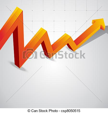 Clipart Vector of Vector background of the economic curve graph.