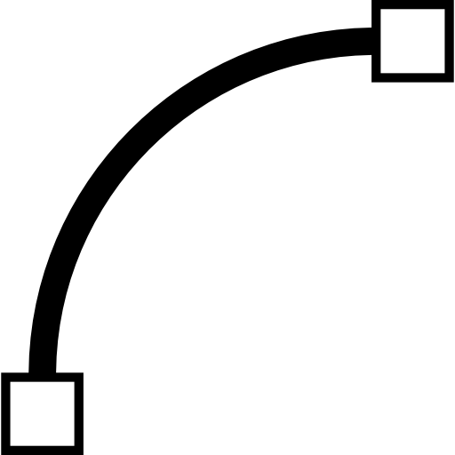 Curve Line, Vector Curve, vector, square, vectors, Box, interface icon.