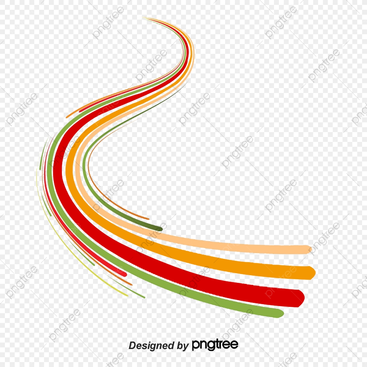 Abstract Lines Vector Material Curved Lines, Abstract, Line, Vector.
