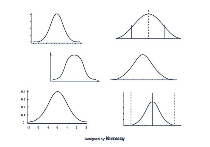 Bell Curve Vector.