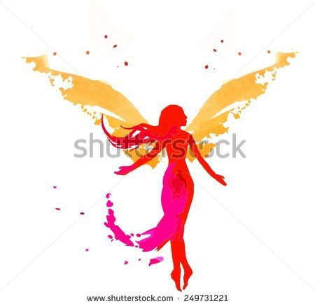 Abstract Angel Stock Images, Royalty.