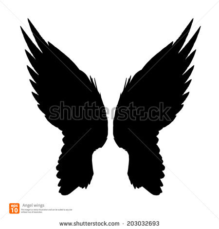 Wing Silhouette Stock Photos, Royalty.