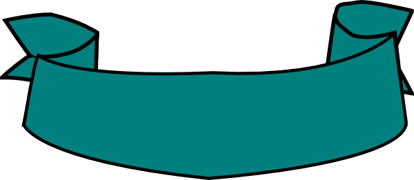 Teal Banner Curved Clip Art at Clker.com.