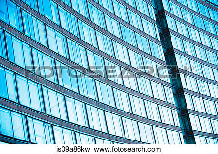Picture of Abstract of office building with curved facade.