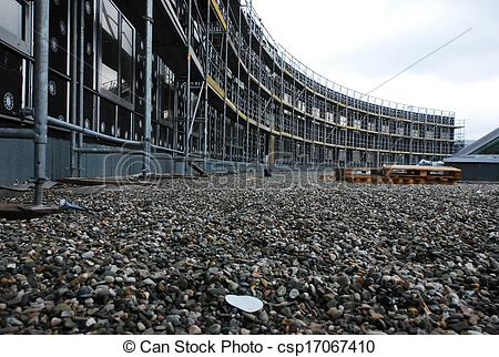 Stock Photography of Low angle view from ground level of the front.