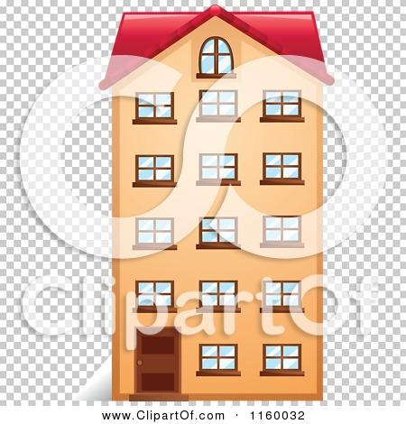 Cartoon of an Apartment Building Facade.