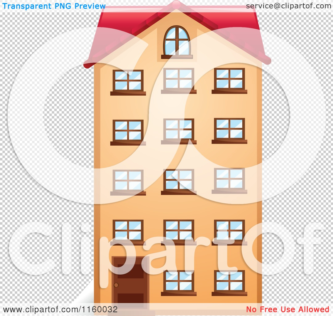 Cartoon of an Apartment Building Facade.
