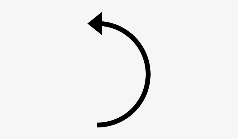 Curved Line With Arrow.