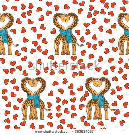 Couple Of Giraffes Stock Vectors & Vector Clip Art.