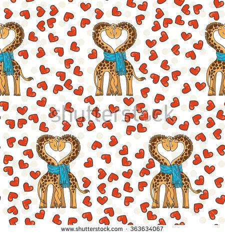 Couple Of Giraffes Stock Vectors & Vector Clip Art.