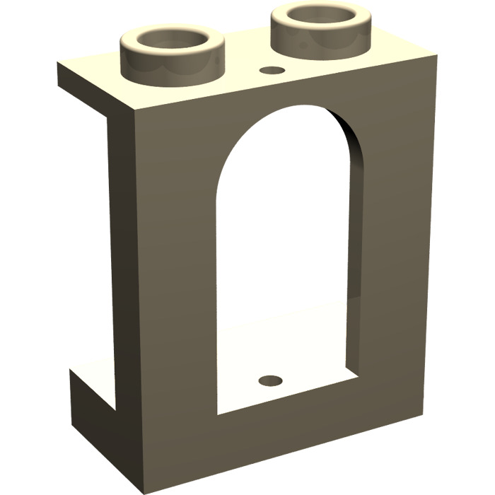 LEGO Panel 1 x 2 x 2 Recessed Solid Stud with Arched Window.