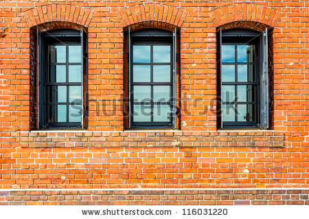 Window On Brick Wall Stock Photos, Royalty.