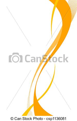 Clipart of Flowing Swoosh Curves.
