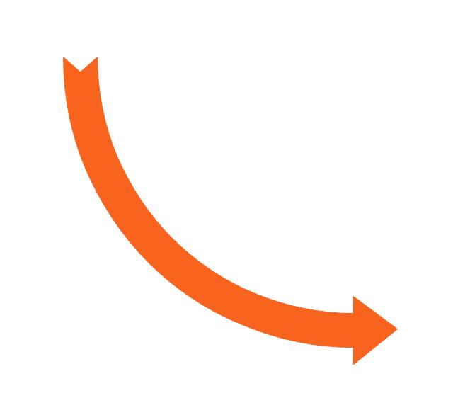 Sales arrows.