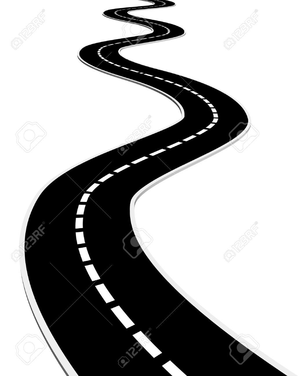 Long curvy road clipart.