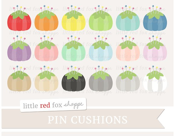 Pin Cushion Clipart ~ Illustrations on Creative Market.
