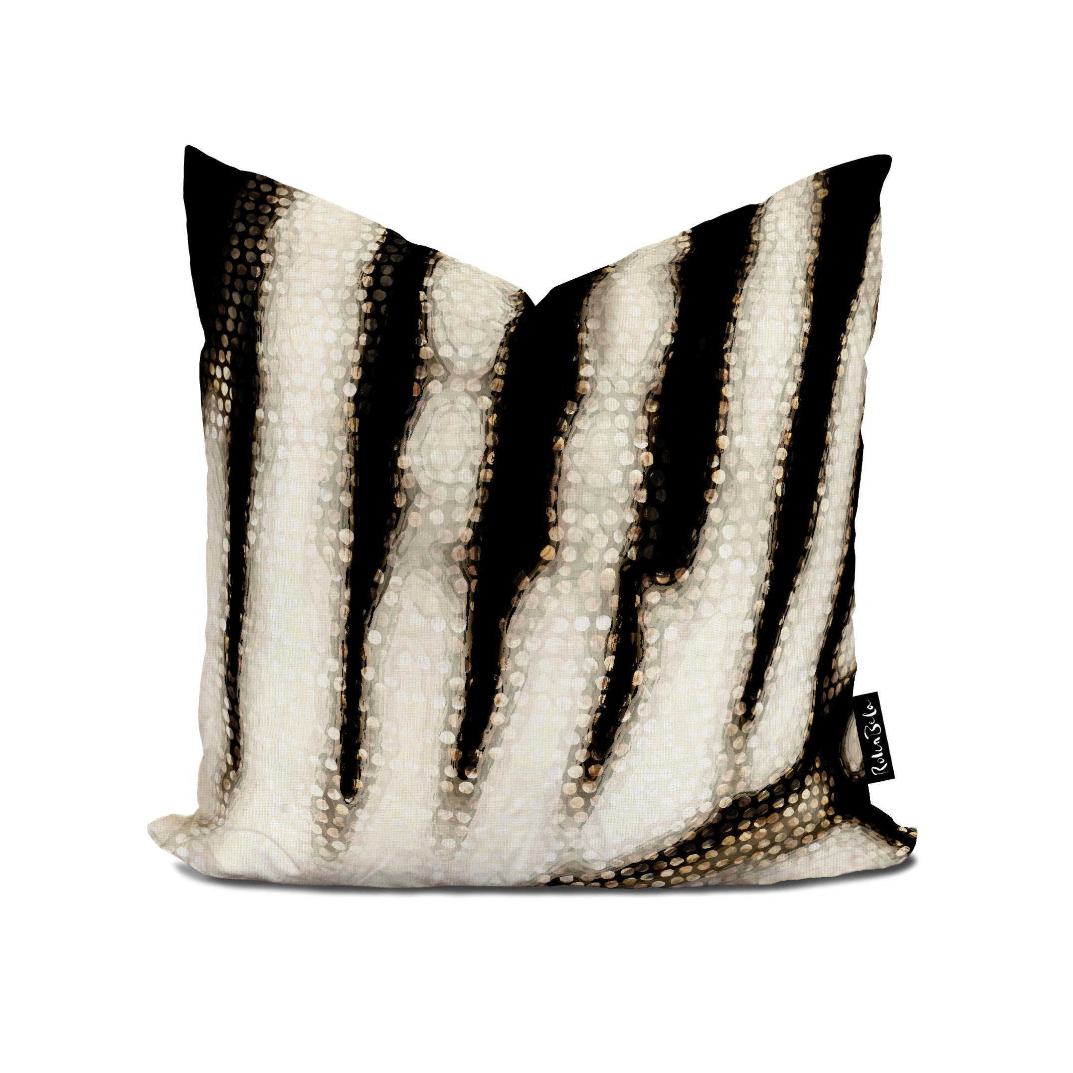 Rokabela Gold Tiger Cushion — ROKABELA.