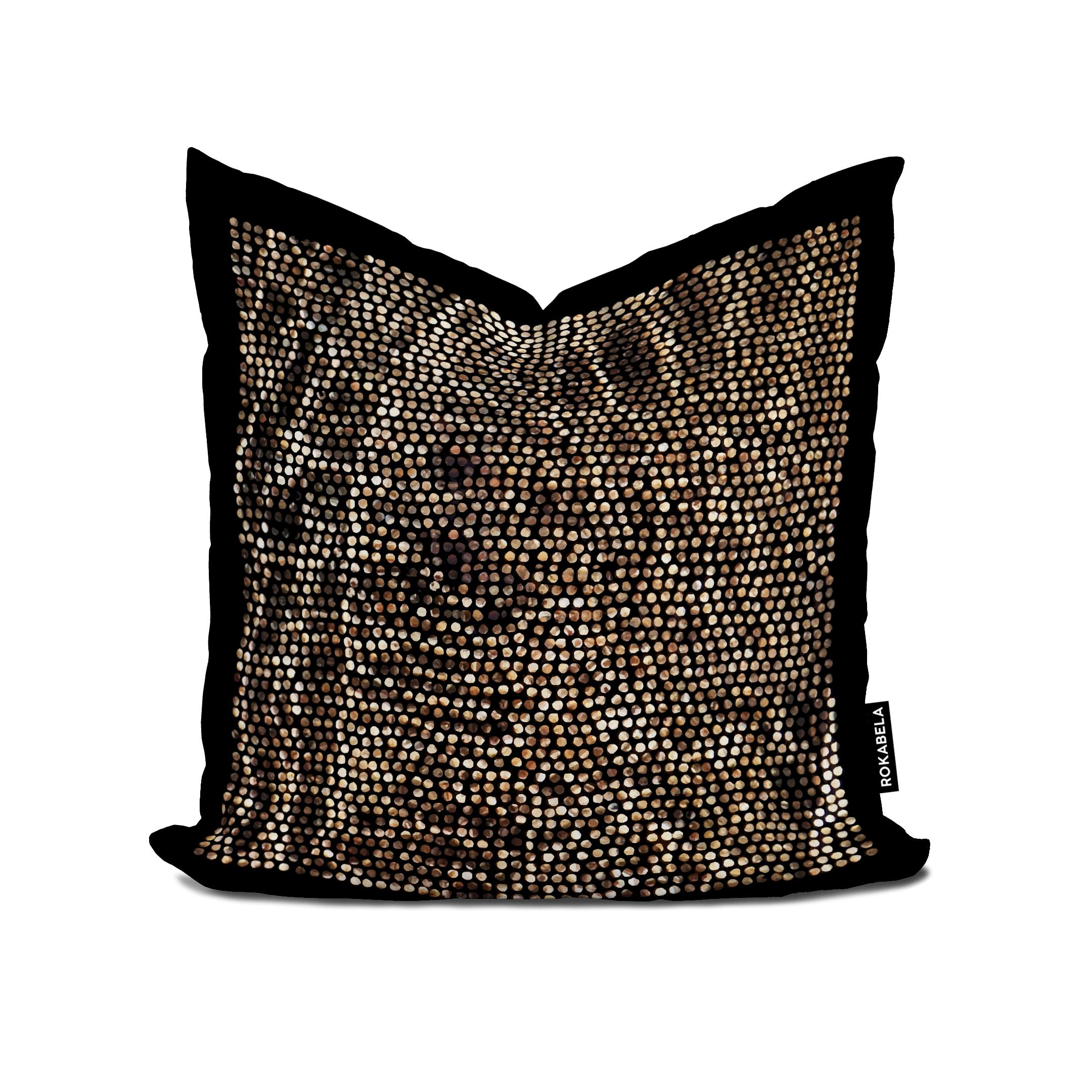 Rokabela Gold Rain Cushion — ROKABELA.