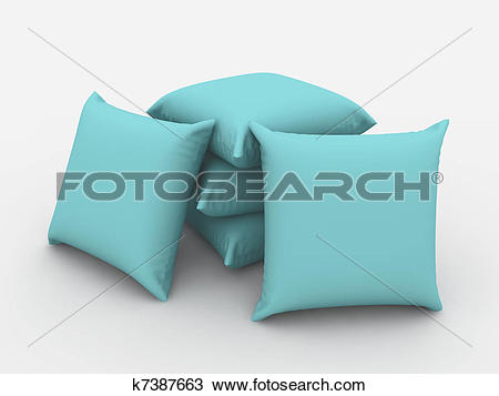 Drawing of Cushions k7387663.