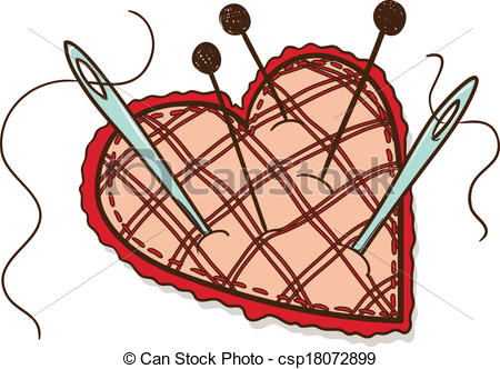 Pin cushion clipart.