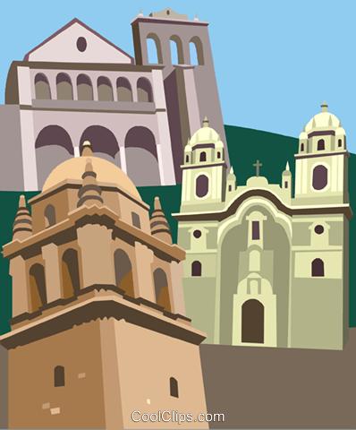 Cusco , Peru Royalty Free Vector Clip Art illustration.