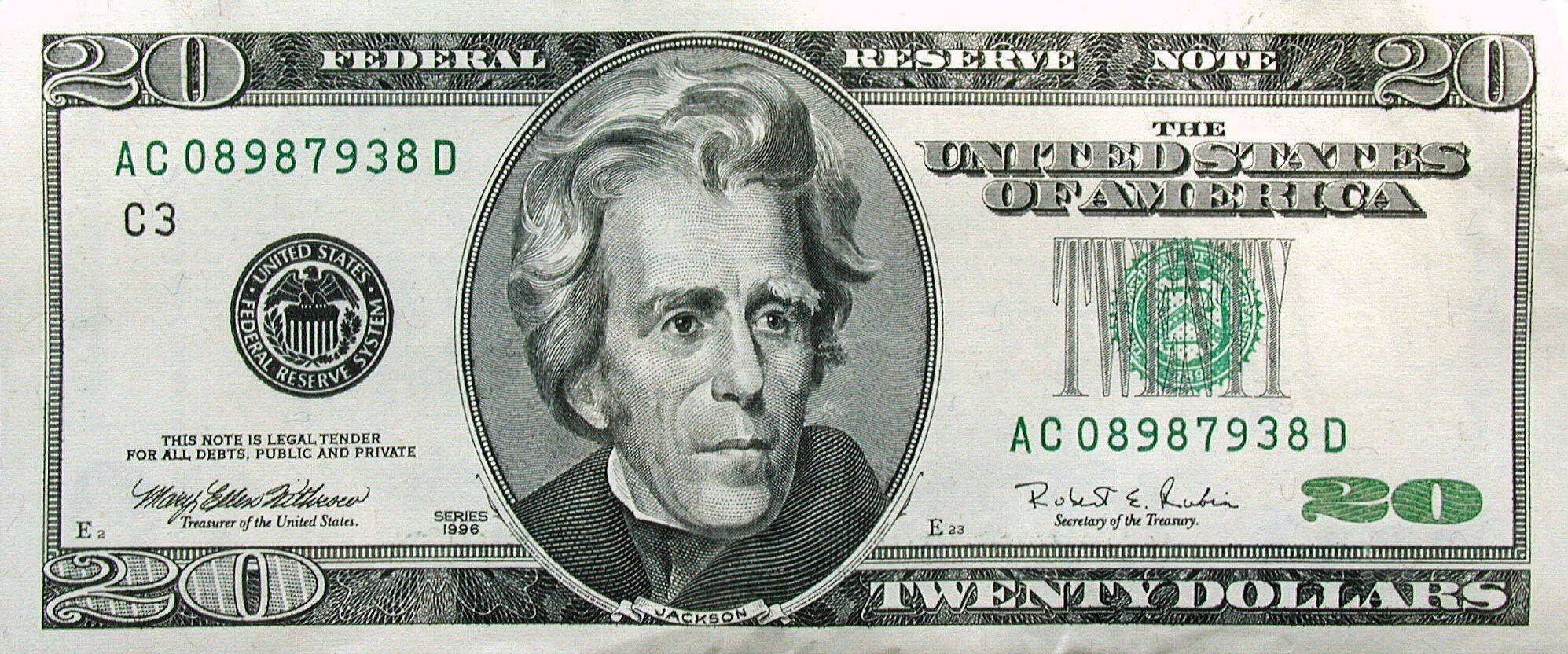 Cliparts $20 Bill.
