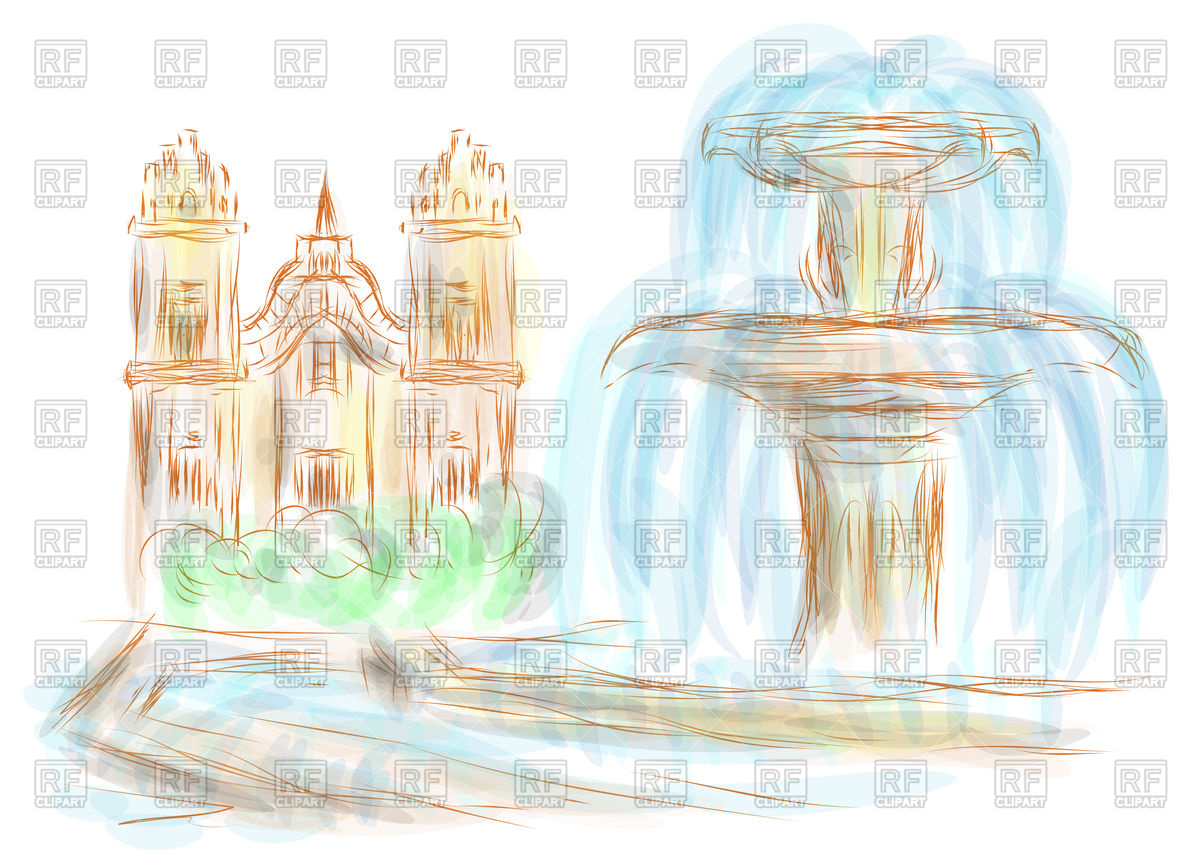 Cusco abstract illustration on a multicolor background Vector.
