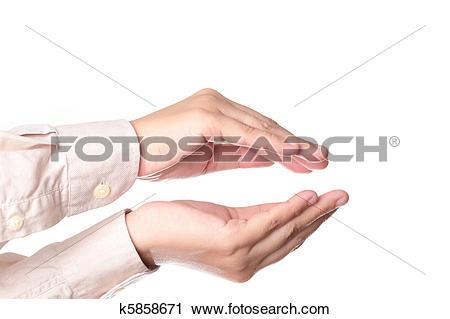 Stock Photography of Human hands cusp k5858671.