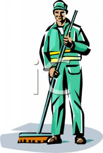 Clipart image of a custodian.