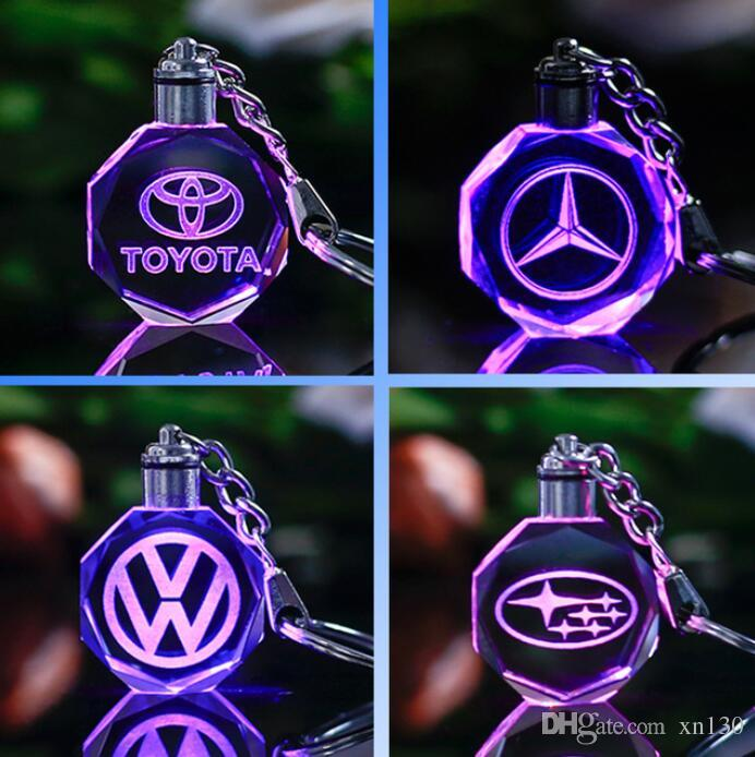 2019 Famous Or Custom Car Logo Crystal Crafts With Changing Colors LED  Light Laser Engraved DIY Car Ornaments Home Decor Boys Gifts From Xn130,  $29.13.