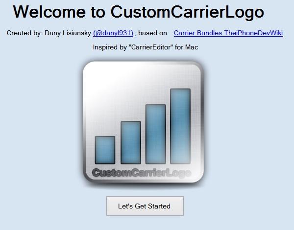 How to Create Custom Carrier Logo on iPhone/iPad (No.