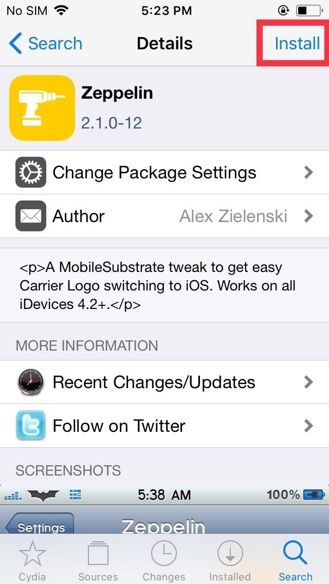 How to Replace the Carrier Name in Your iPhone\'s Status Bar.