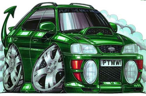 Custom car drawing.